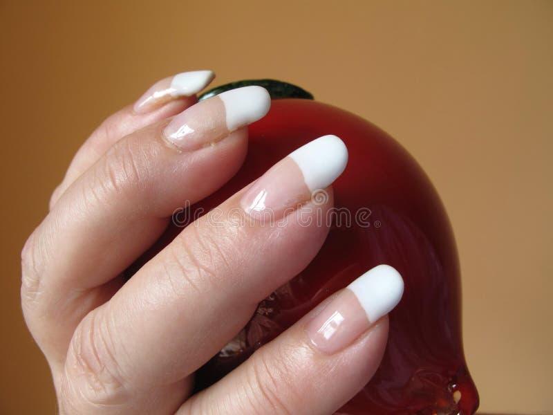 французский manicure стоковое изображение rf