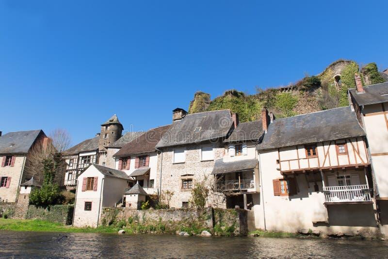 Французский Segur-le-замок деревни стоковое изображение