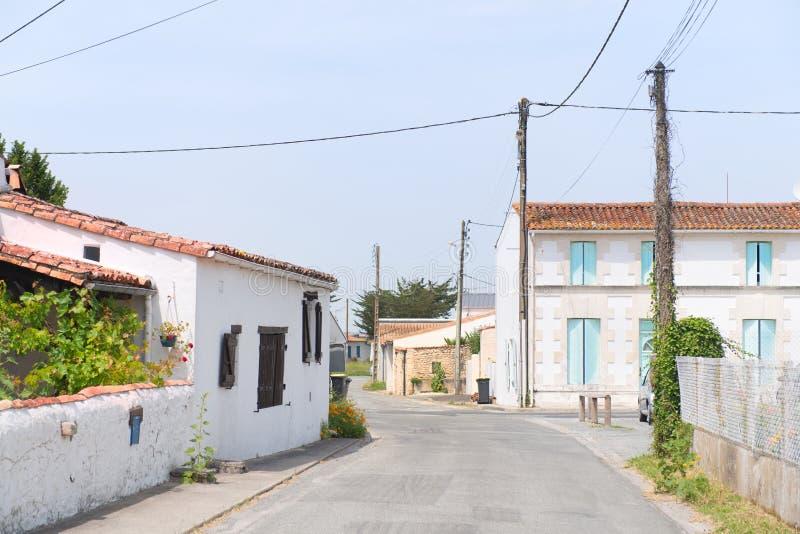 французское маленькое село стоковое изображение rf