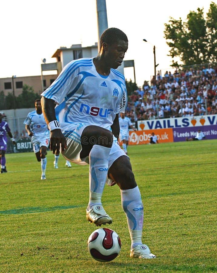 французское содружественное tfc футбола om спички против стоковые изображения rf