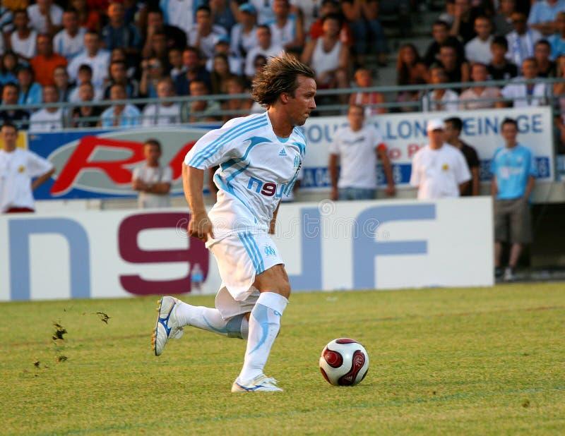 французское содружественное tfc футбола om спички против стоковое изображение