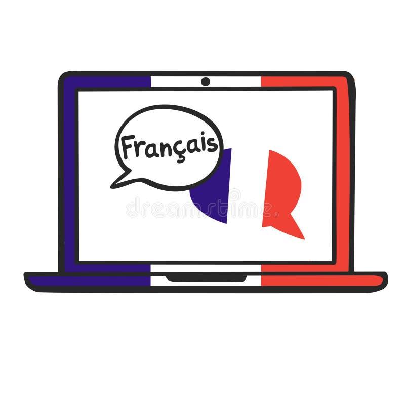 французско иллюстрация вектора