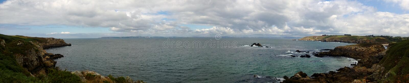 Француз Coast_Panoramic стоковая фотография