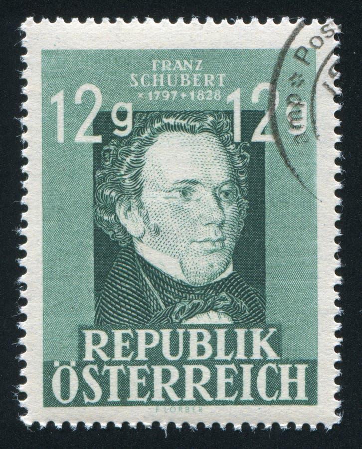 Франц Шуберт Австрия стоковое фото