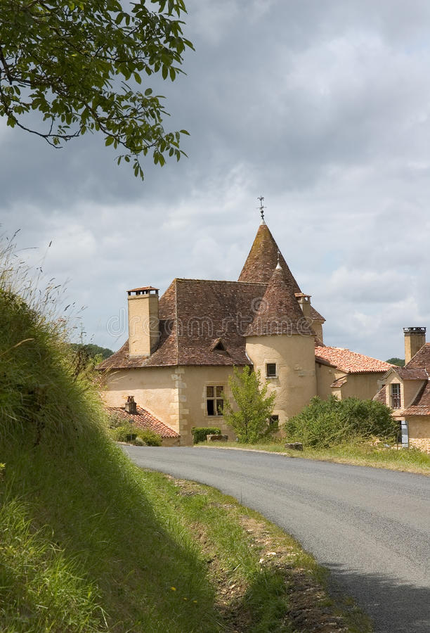 франчуз коттеджа замока стоковое фото
