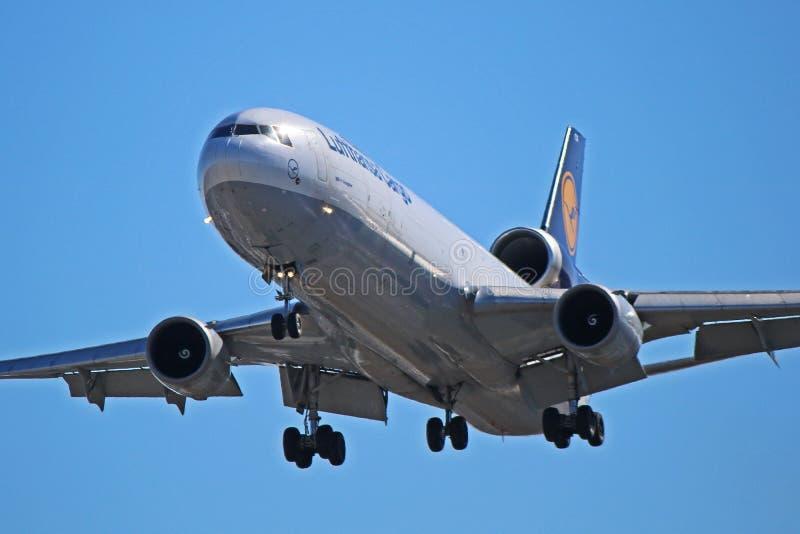 Фрахтовщик McDonnell Douglas MD-11 груза Люфтганза стоковое фото