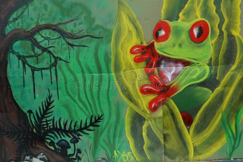 Фреска для лягушек в парке Бернсайд Бридж Скейт в Портленде, или стоковое фото rf