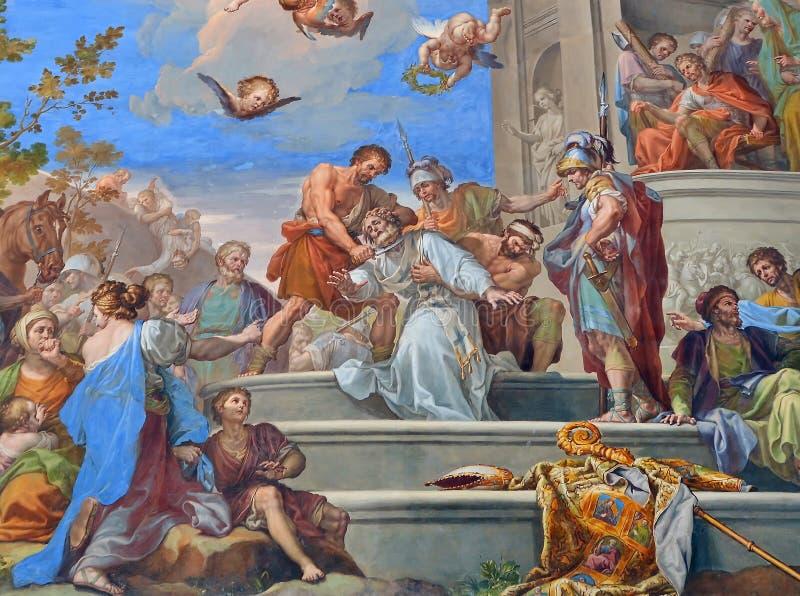 Фреска настенной росписи в Toledo, Испании стоковое изображение rf