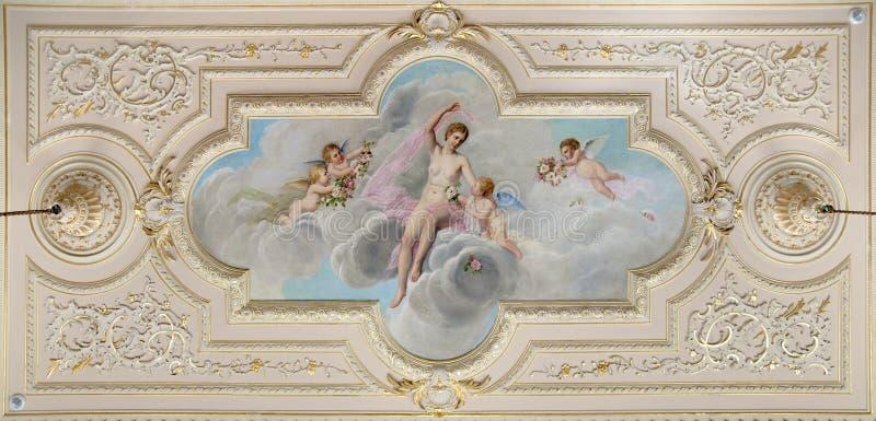 фреска потолка стоковое изображение rf