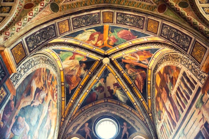 Фреска delle Grazie Santa Maria церков стоковое фото rf