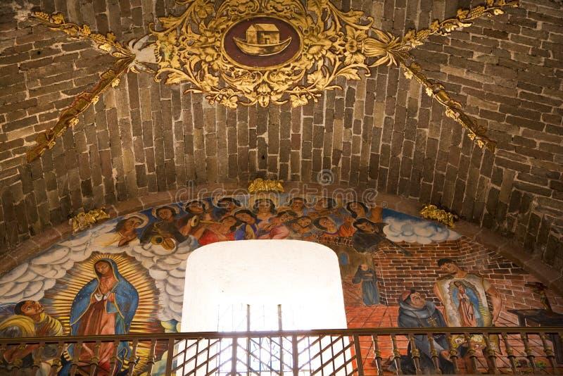 фреска guadalupe Мексика церков archangel стоковое фото rf