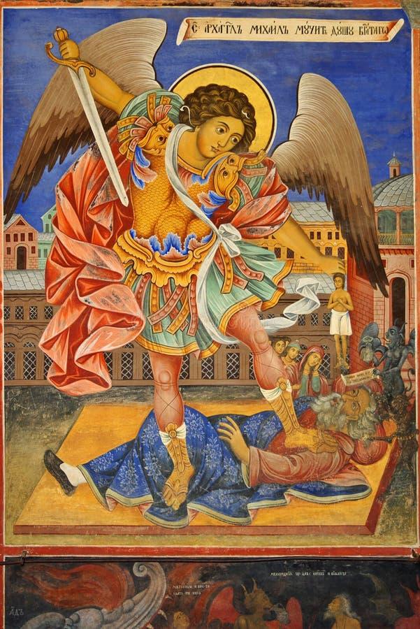 фреска michael archangel стоковое фото