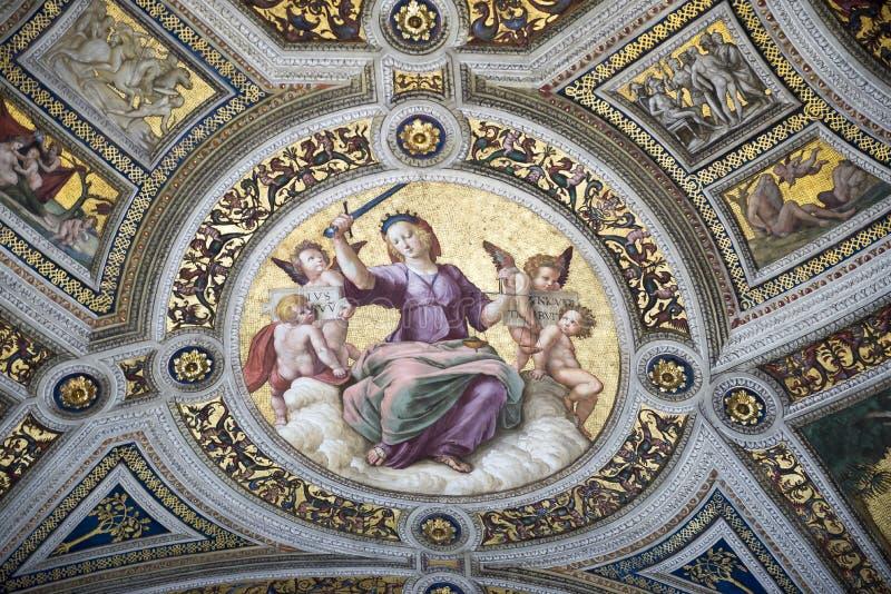 Фрески Ватикана Италия стоковое фото rf