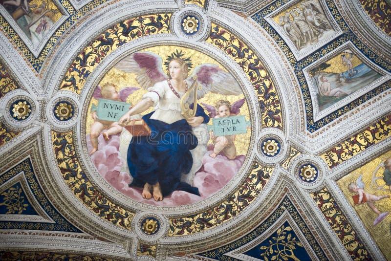 Фрески Ватикана Италия стоковое изображение
