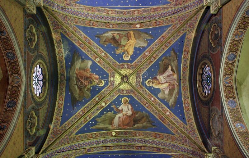 фрески потолка стоковое фото