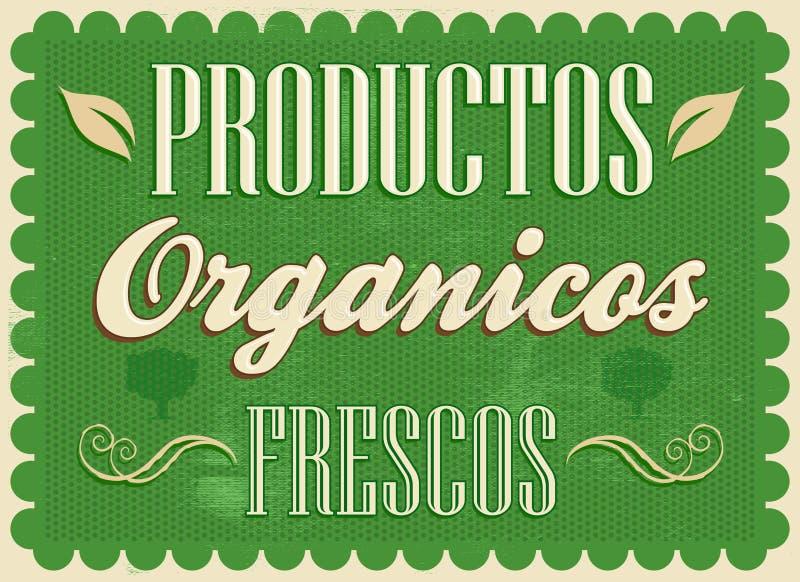 Фрески organicos Productos - свежие органические испанские языки продуктов отправляют СМС иллюстрация штока
