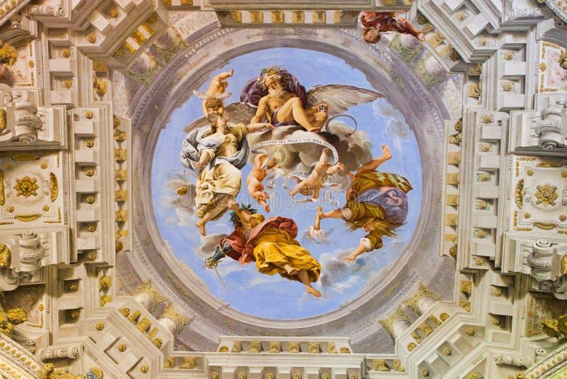Фрески Palazzo Pitti - Флоренс стоковые фотографии rf