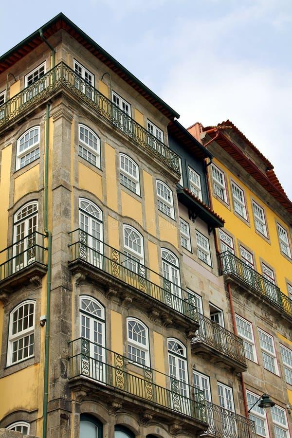 Фронты дома в Порту стоковые изображения rf