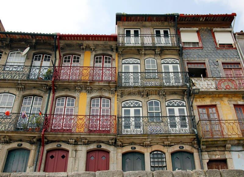 Фронты дома в Порту стоковые фотографии rf