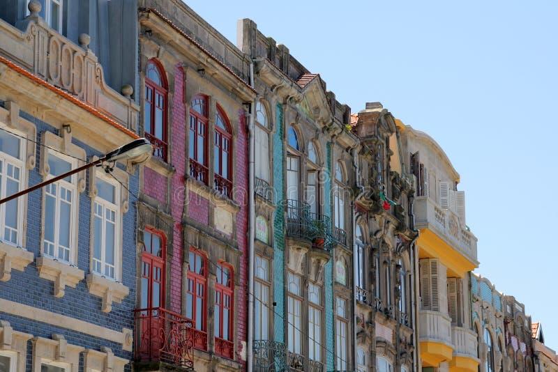 Фронты дома в Порту стоковые фото