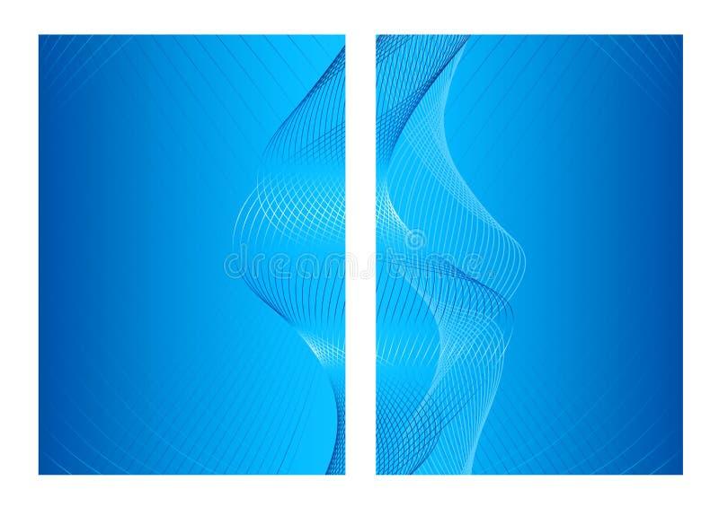 фронт задней предпосылки конспекта голубой иллюстрация вектора