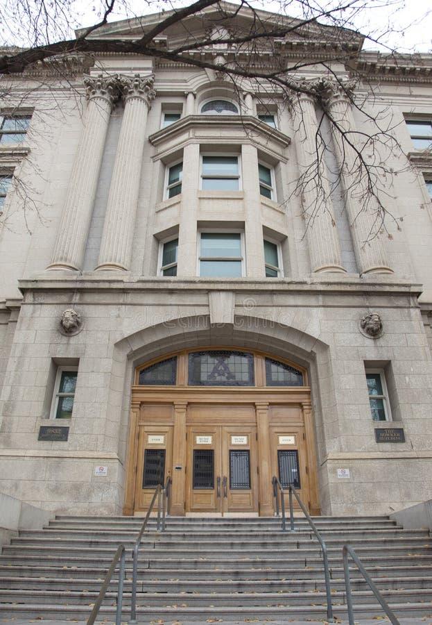 Фронт здания bowker в Эдмонтоне, Альберте стоковое фото