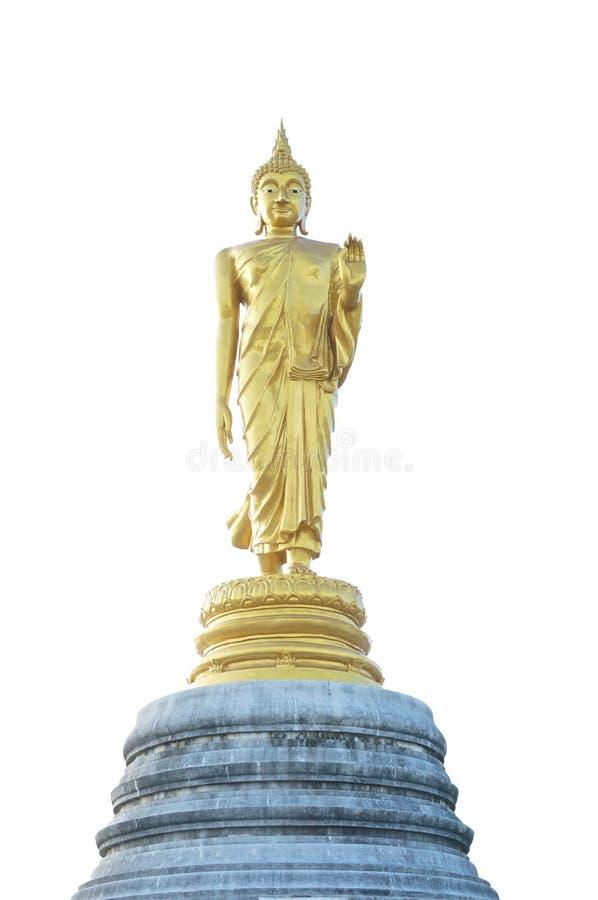 Download Фронт золотой статуи Будды стоковое фото. изображение насчитывающей buckling - 40576614