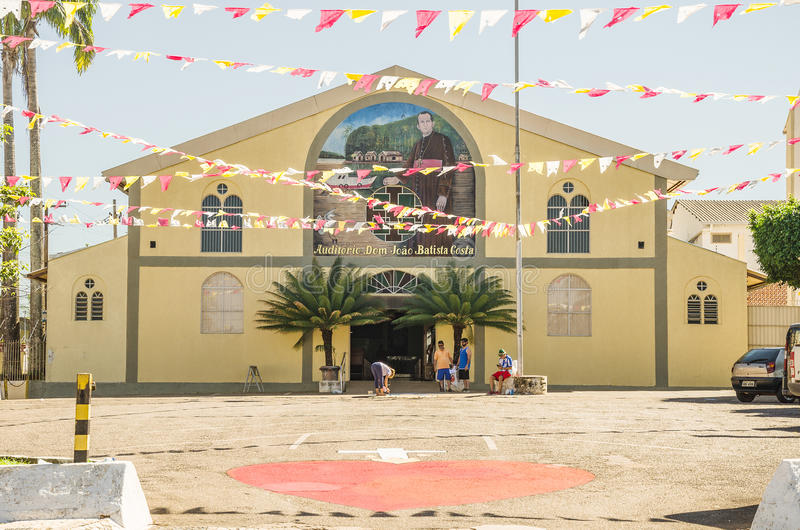 Фронт Косты Dom Joao Batista аудитории в ci Порту Velho стоковая фотография rf