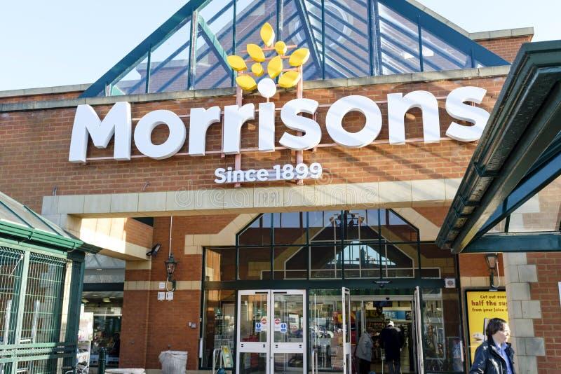 Фронт магазина Morrisons стоковые изображения