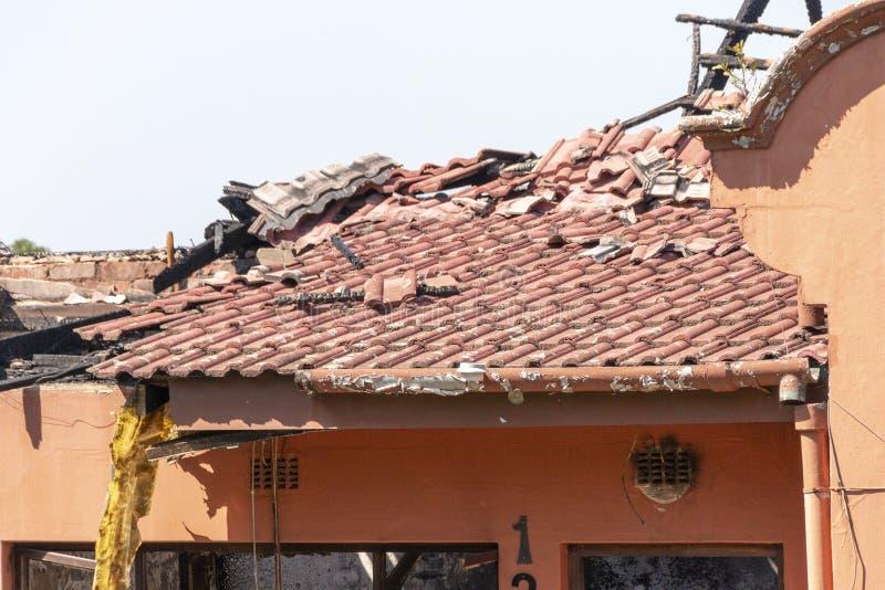 Фронт ожога дома вне стоковое фото rf