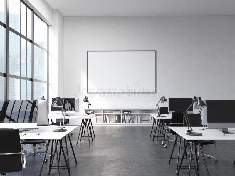 Фронт офиса Coworking бесплатная иллюстрация