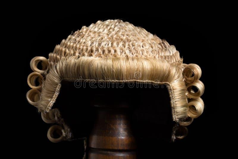 Фронт парика юриста стоковое изображение rf