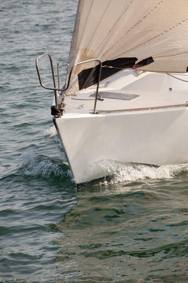 Фронт плавания яхты. Концепция перемещения. Каникулы стоковая фотография