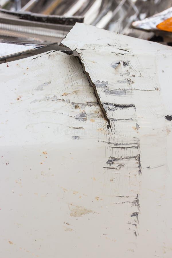 Фронт ссадин автомобиля стоковое изображение