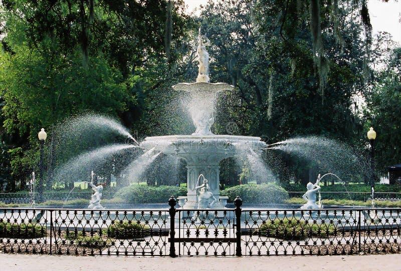 фронт фонтана forsyth стоковое фото rf