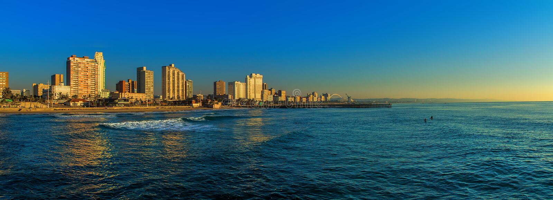 Фронт Южная Африка пляжа Дурбана стоковая фотография rf