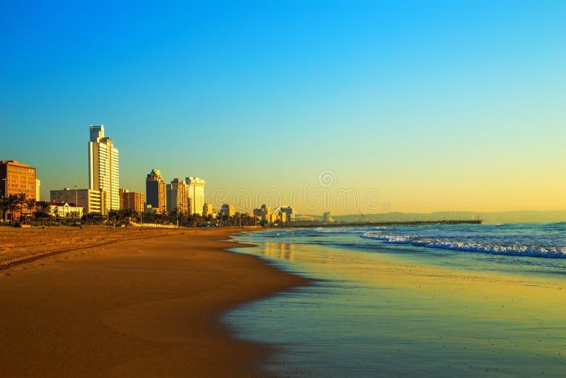 Фронт Южная Африка пляжа Дурбана стоковое фото rf