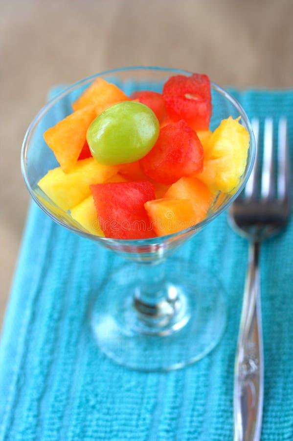 фруктовый салат вилки стоковая фотография