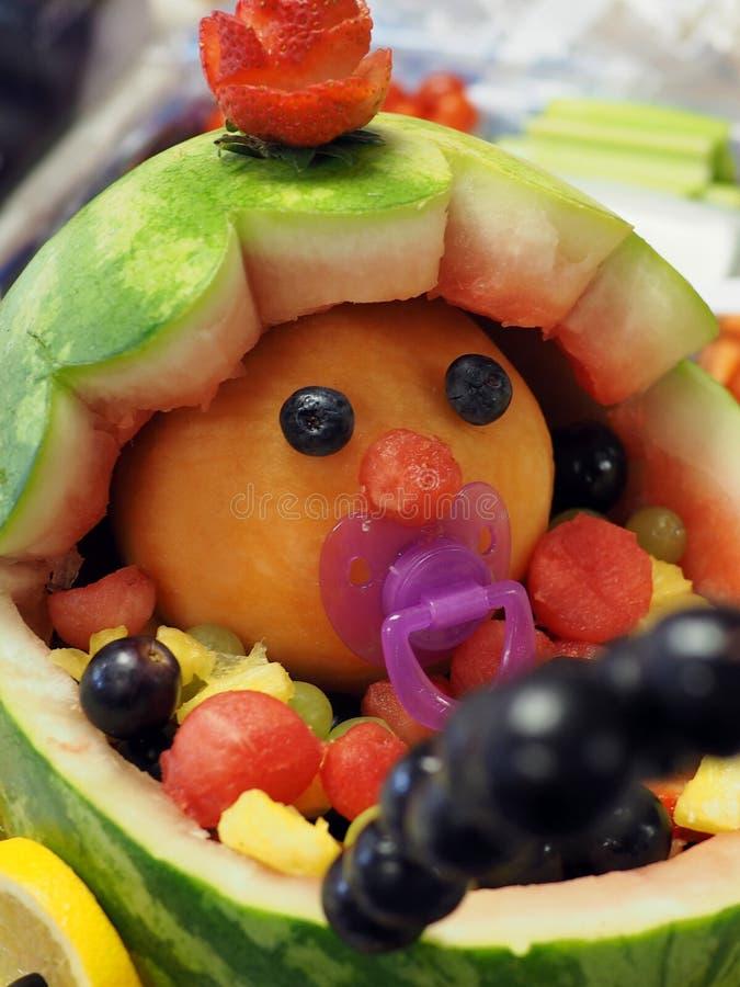 Фруктовый салат детского душа стоковая фотография rf