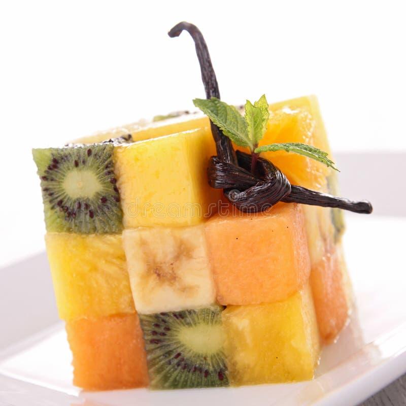 Фруктовый салат творческий стоковая фотография rf