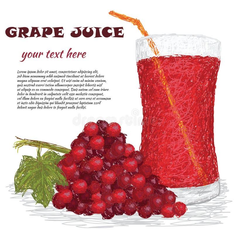 Фруктовый сок виноградины бесплатная иллюстрация