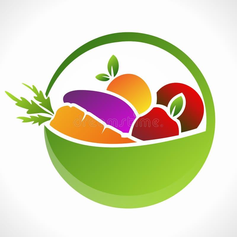 Фрукты и овощи иллюстрация вектора