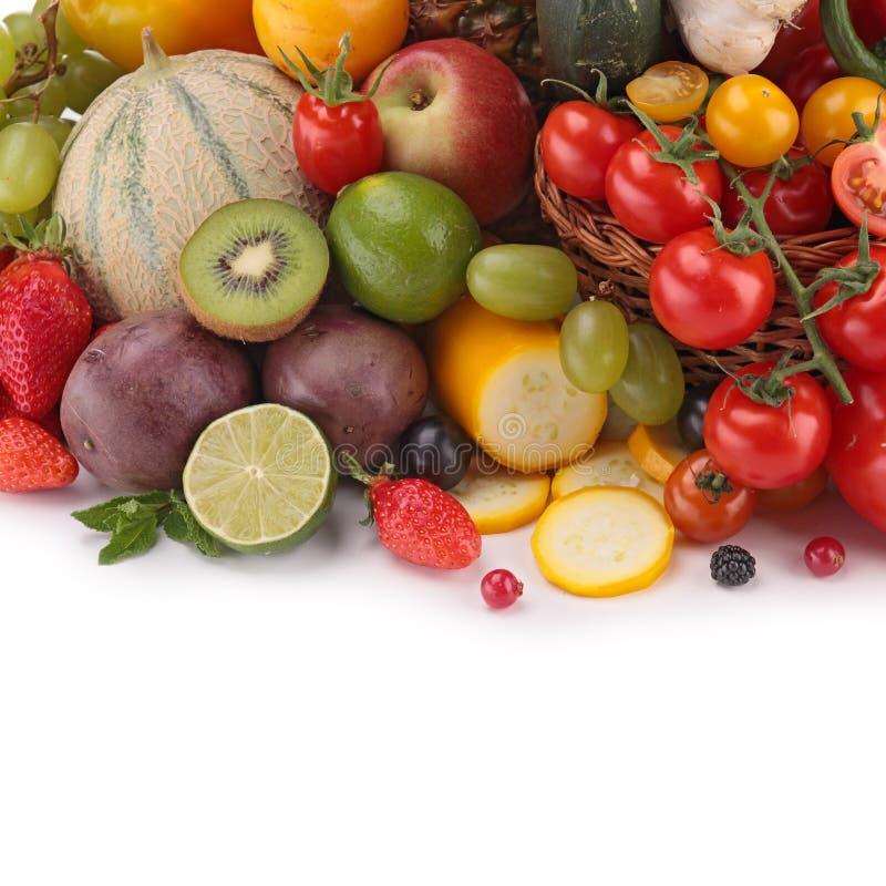 Фрукты и овощи стоковое изображение rf
