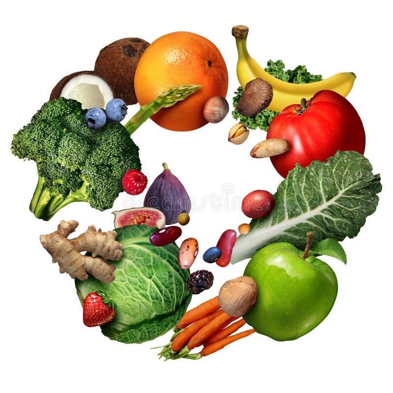 Фрукты И овощи иллюстрация штока