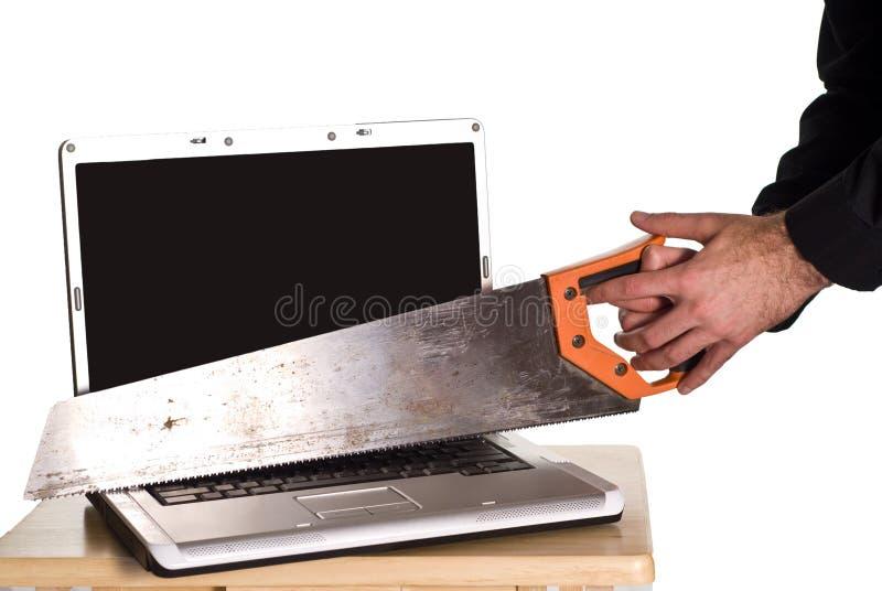 фрустрации компьютера стоковое изображение