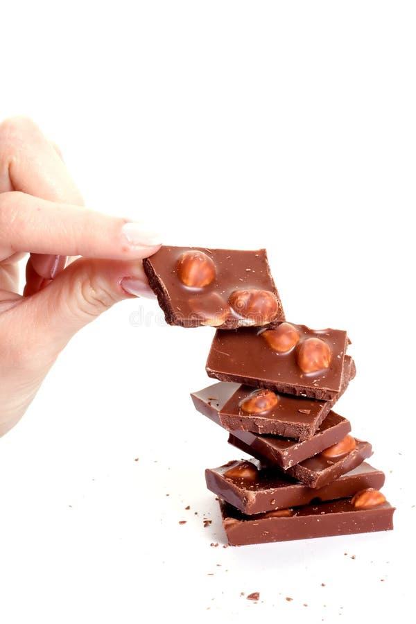 Download фундуки шоколада стоковое изображение. изображение насчитывающей съешьте - 6853637