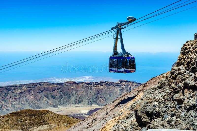 Фуникулер к вулкану Pico El Teide стоковые изображения