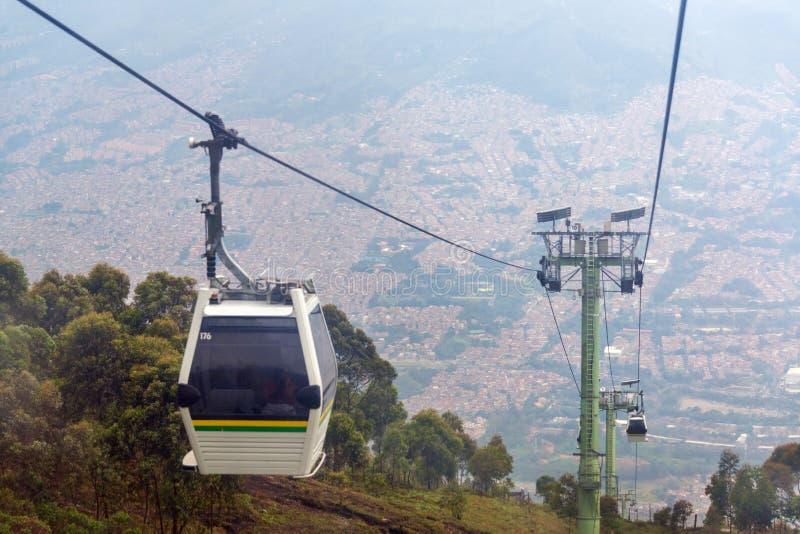 Фуникулер Medellin стоковые изображения rf