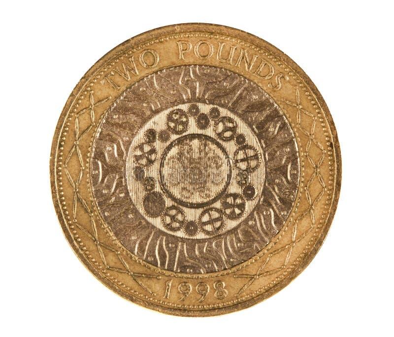 фунт макроса монетки снял 2 стоковая фотография