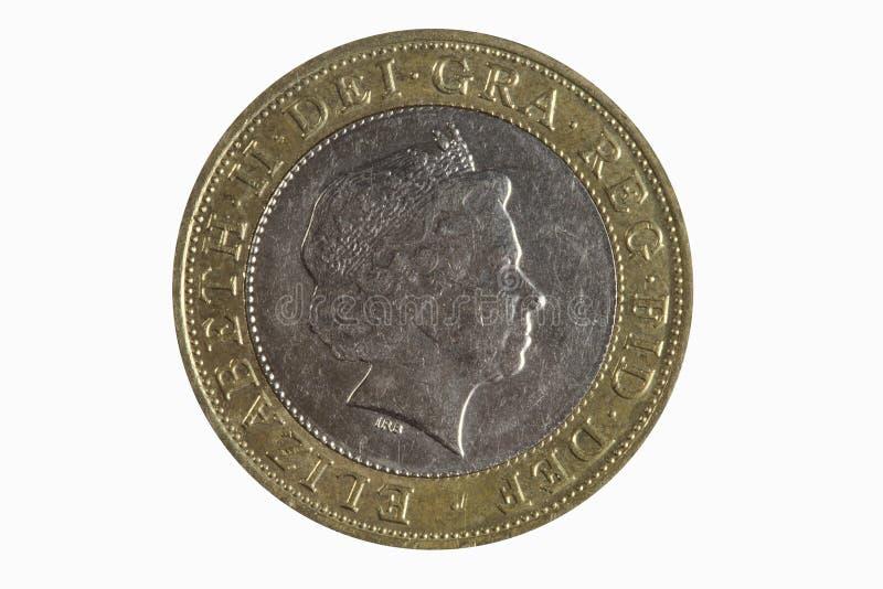 фунт 2 монетки стоковое фото